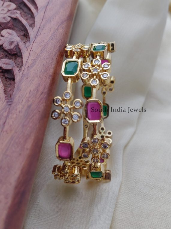 Beautiful Red and Green Bangles