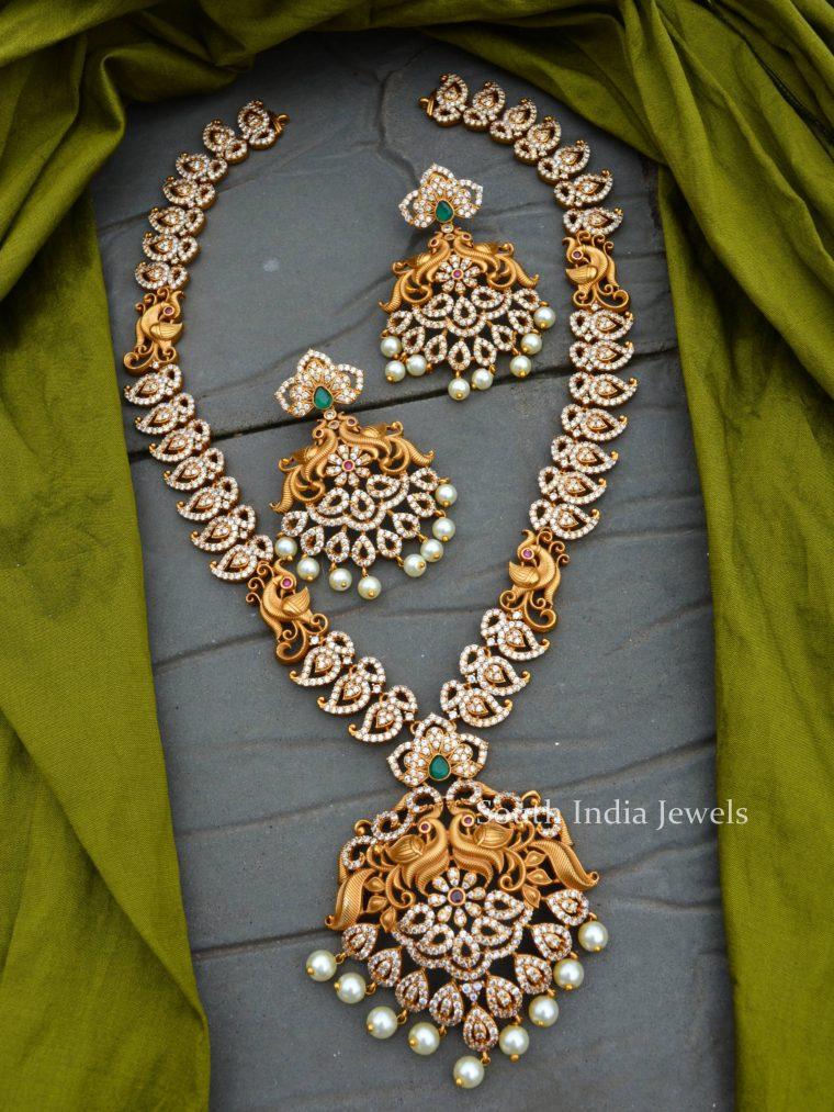 Bridal Peacock Mango Design Haram (3)