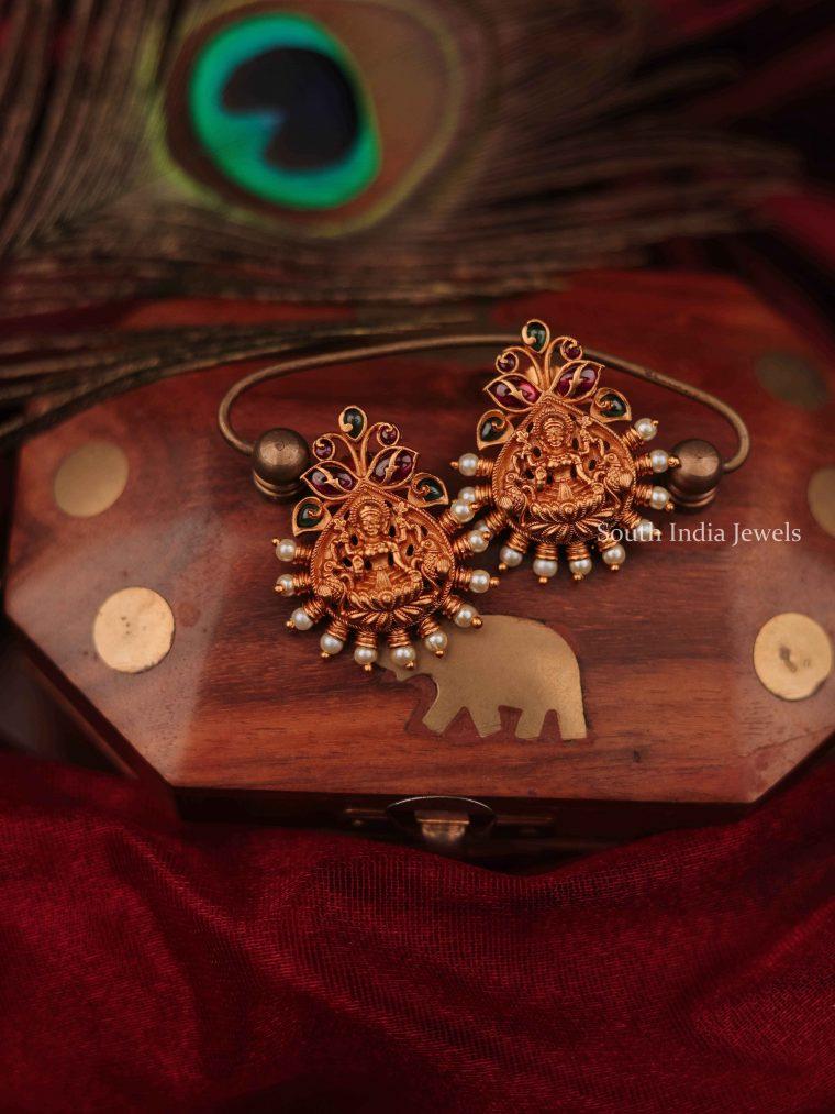 Cute Pearl Temple Earrings (2)