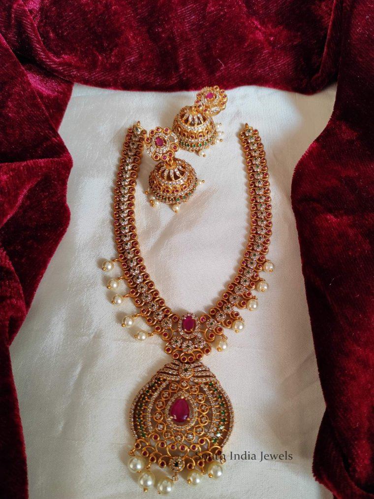 Elegant AD Stone Pearl Haram (3)