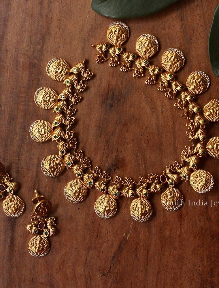 Elegant Lakshmi Kasu Necklace
