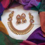 Elegant Matte Finish Coin Necklace (2)