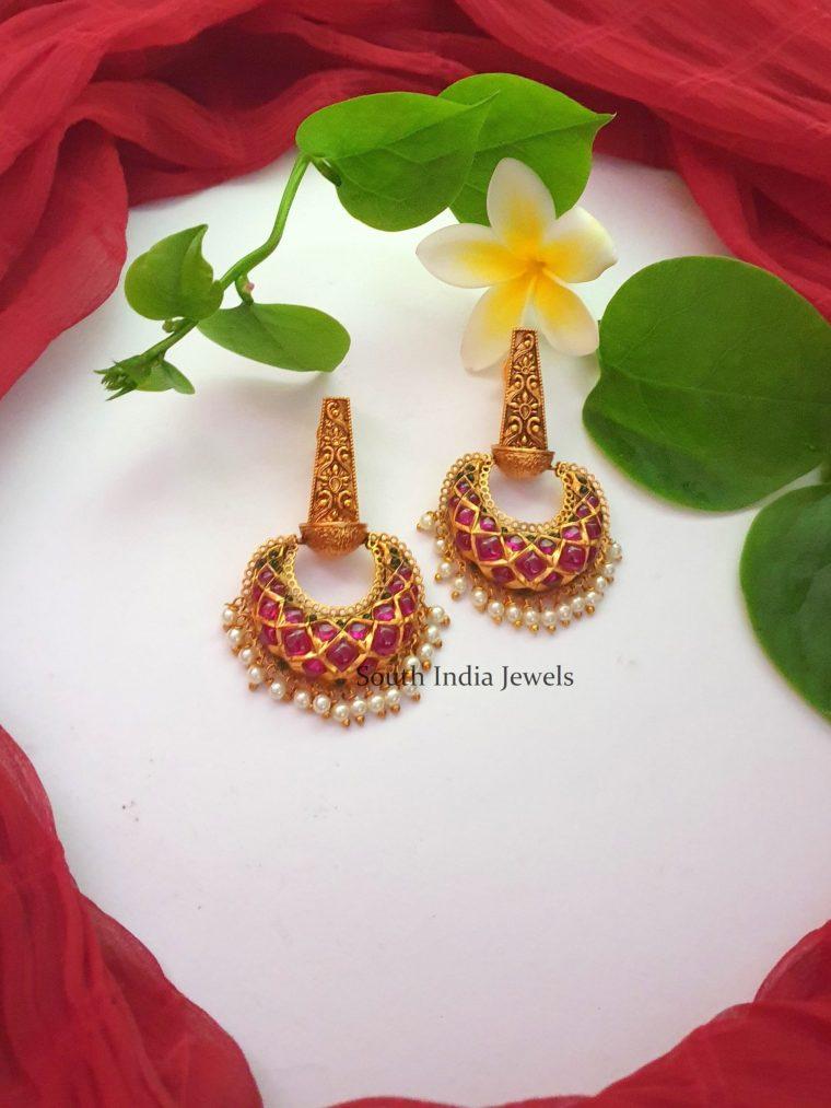 Elegant Matte Finish Designer Earrings