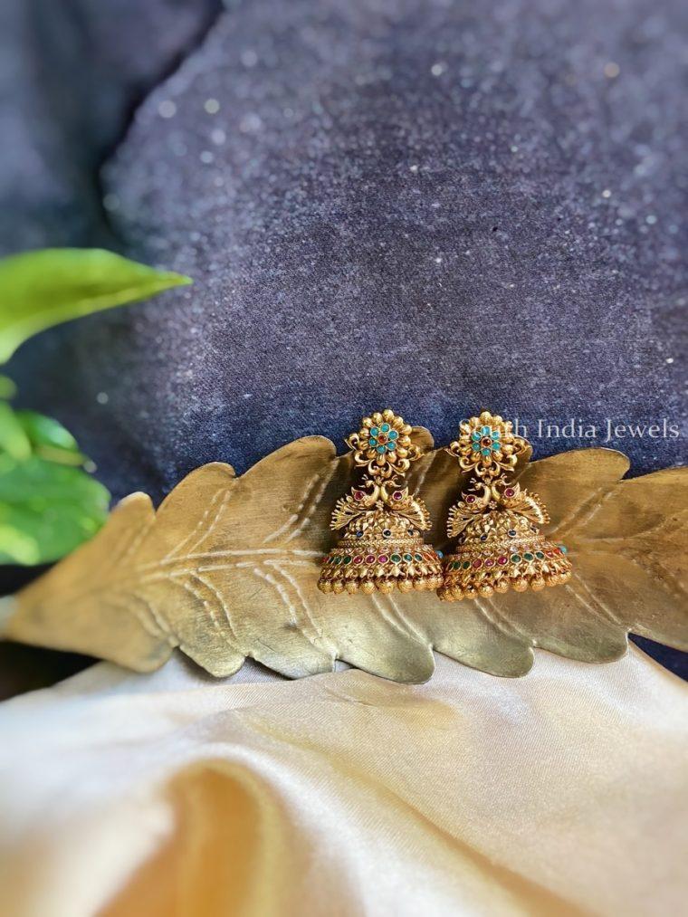Elegant Multicolor Peacock Jhumka