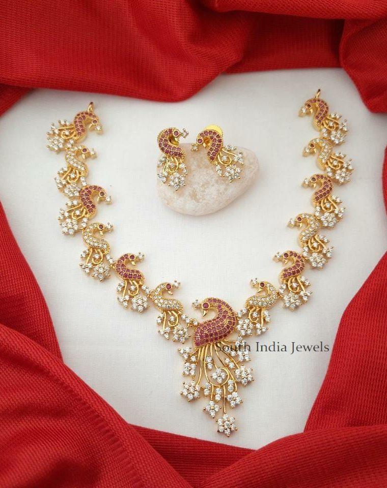 Exquisite Peacock Design Necklace