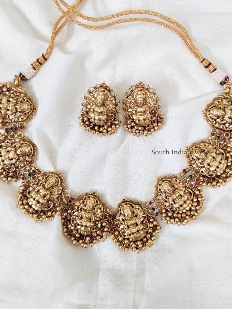 Gorgeous Lakshmi Short Necklace