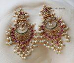 Gorgeous Pearl Cluster Earrings