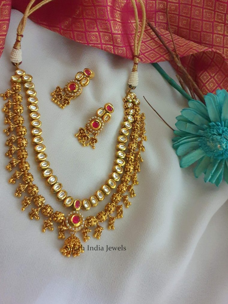 Gorgeous Two Layered Kundan Necklace (3)