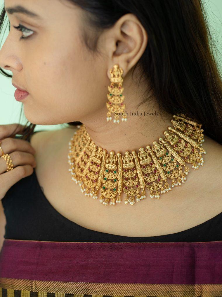 Grand Bridal Lakshmi Layered Choker (2)