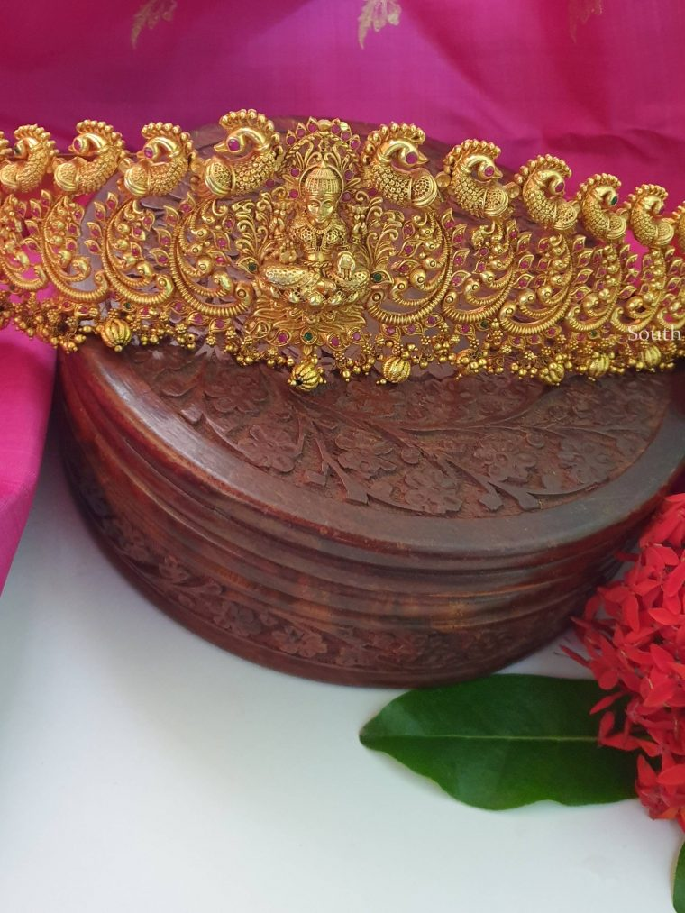 Grand Lakshmi Peacock Design Hipbelt