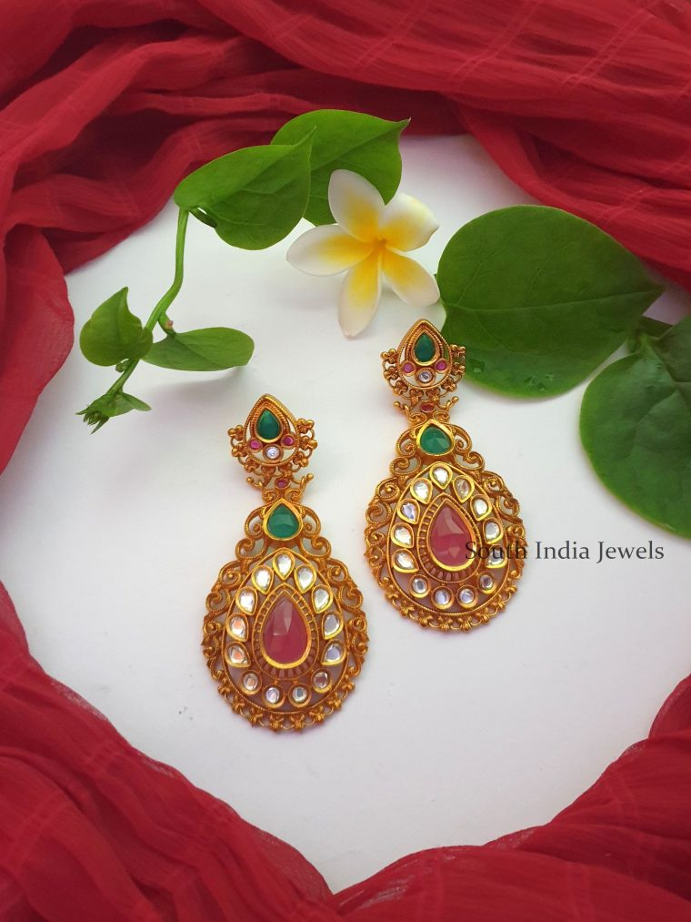 Grand Matte Chandbali Earrings