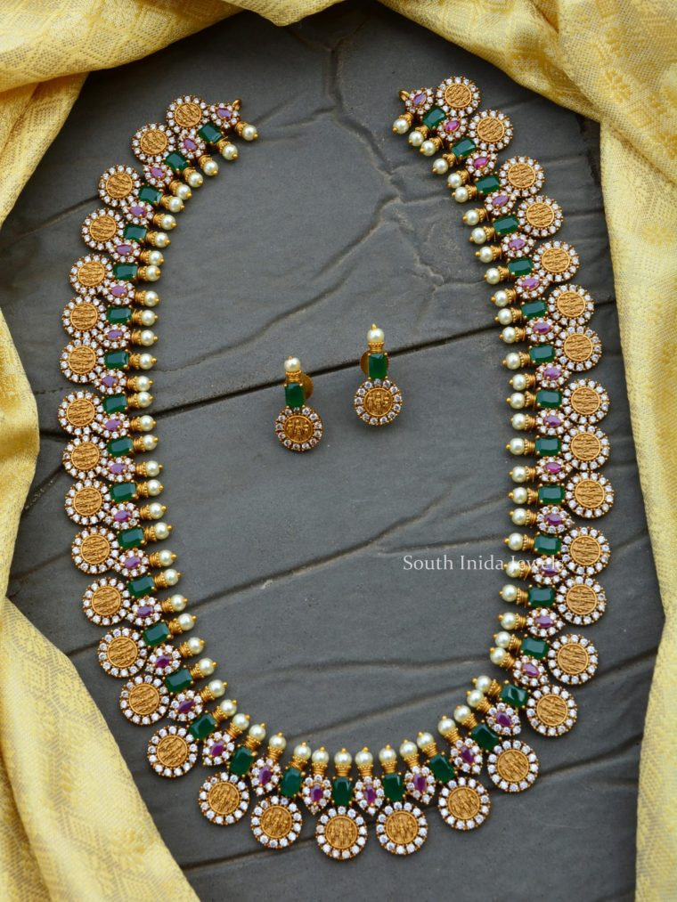 Grand Ram Parivar Emerald Green Haram Set