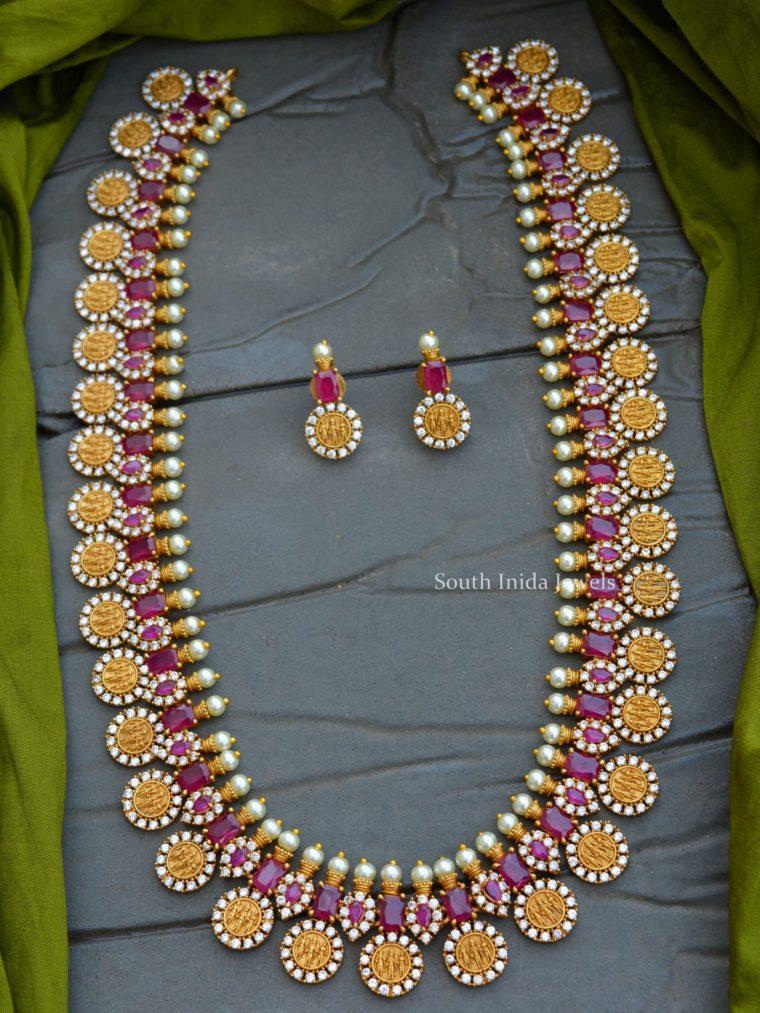 Grand Ram Parivar Emerald Red Haram Set