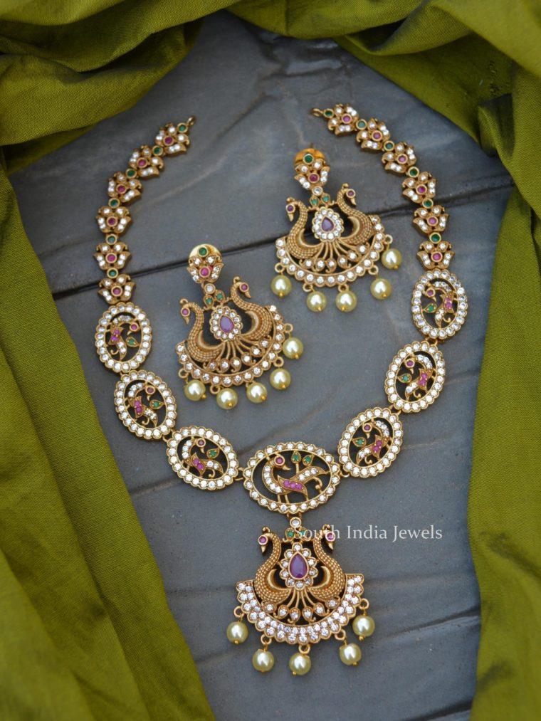 Imitation Peacock Design Necklace