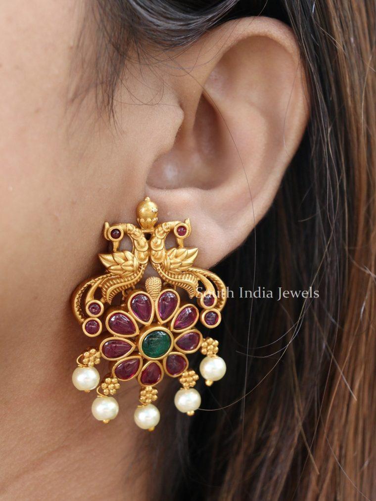 Lovely Peacock Design Ear Studs