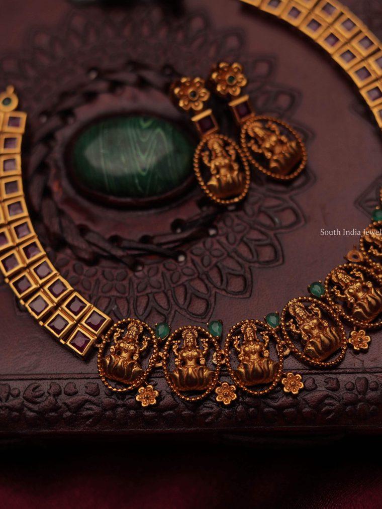 Matte Finish Nakshi Design Necklace-01