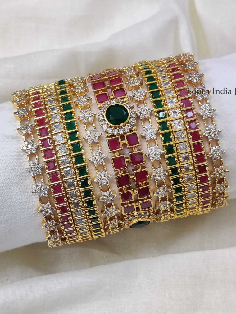 Mesmerizing Multi Stone Bangle Set