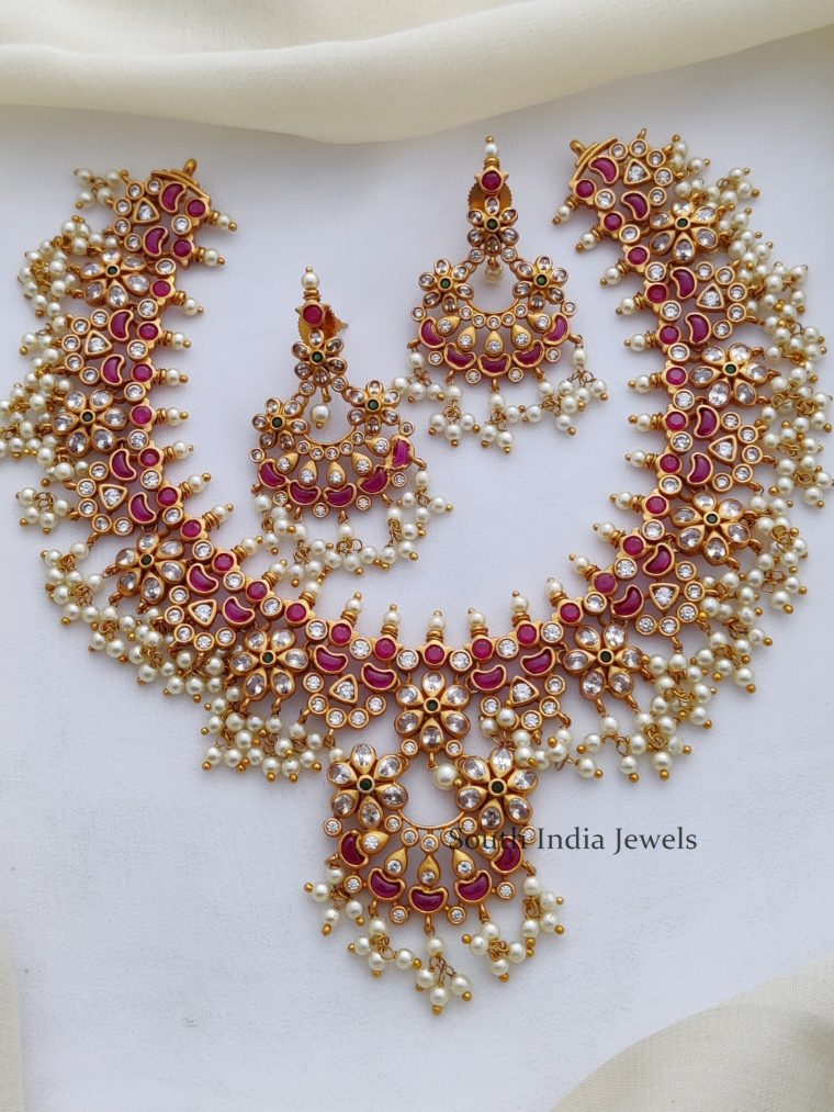 Premium Bridal Guttapusalu AD Necklace-01