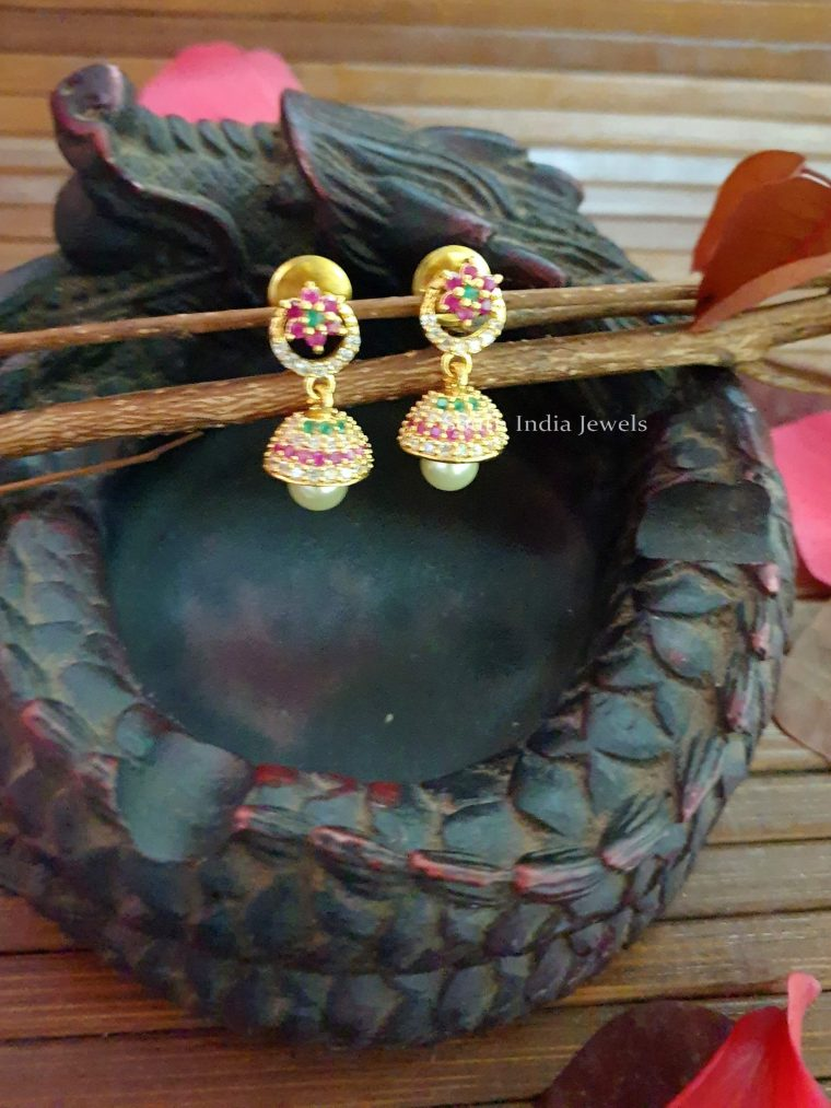 Pretty Flower Design Jhumka