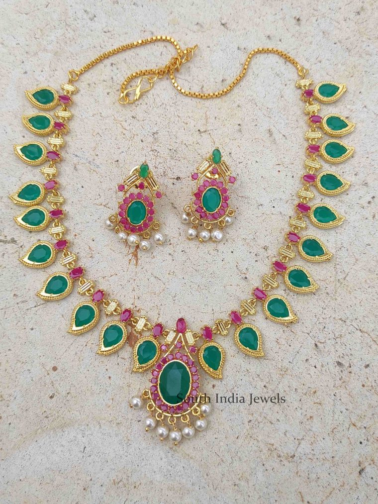 Pretty Kerala Palaka Style Manga Necklace (2)