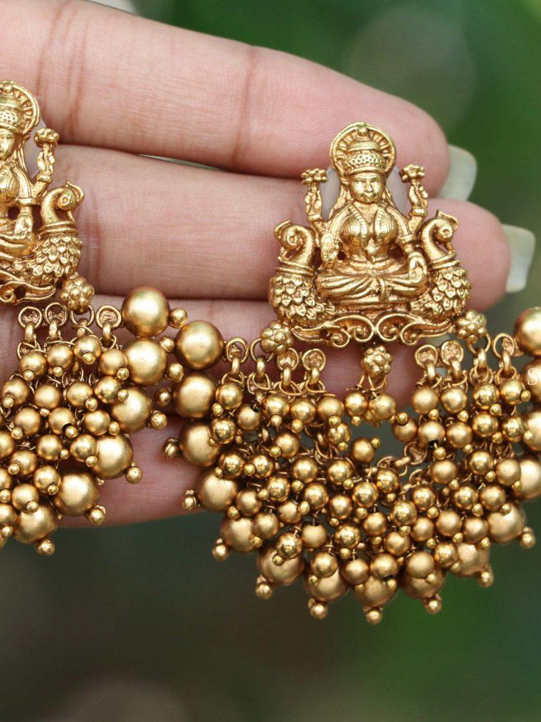 Pretty Lakshmi Pearl Cluster Earrings
