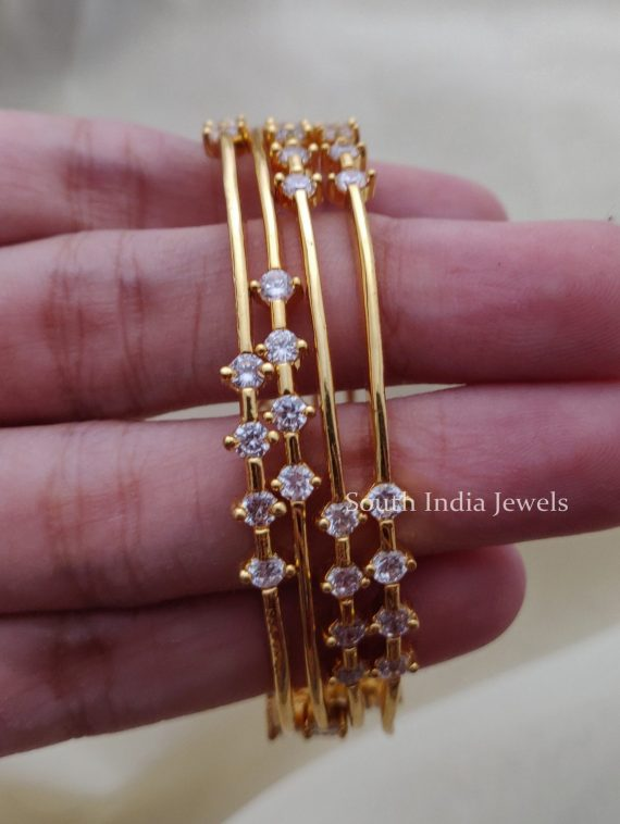 Simple & Elegant AD Stone Bangles (2)