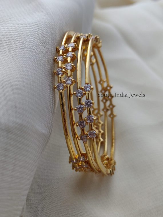 Simple & Elegant AD Stone Bangles