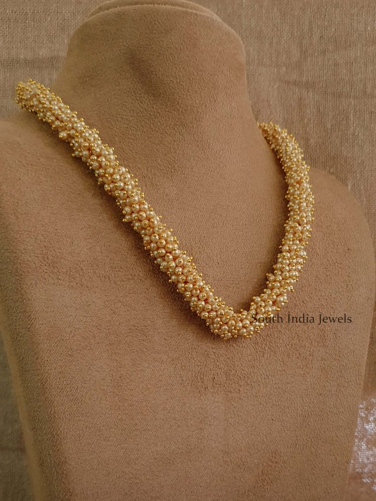 Simple Single Layer Pearl Bunch Mala (2)