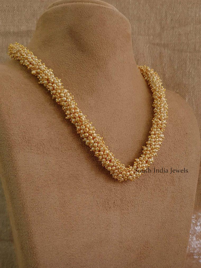 Simple Single Layer Pearl Bunch Mala (2)
