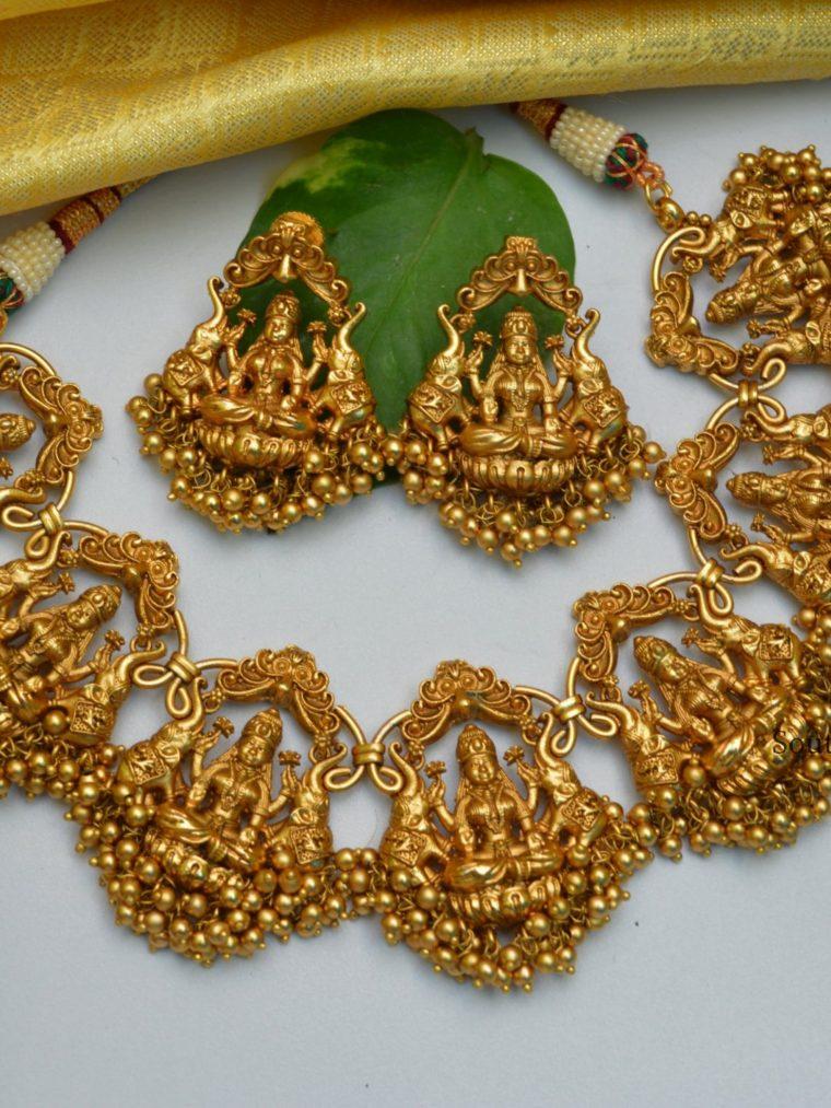 South Indian Temple Lakshmi Necklace-01
