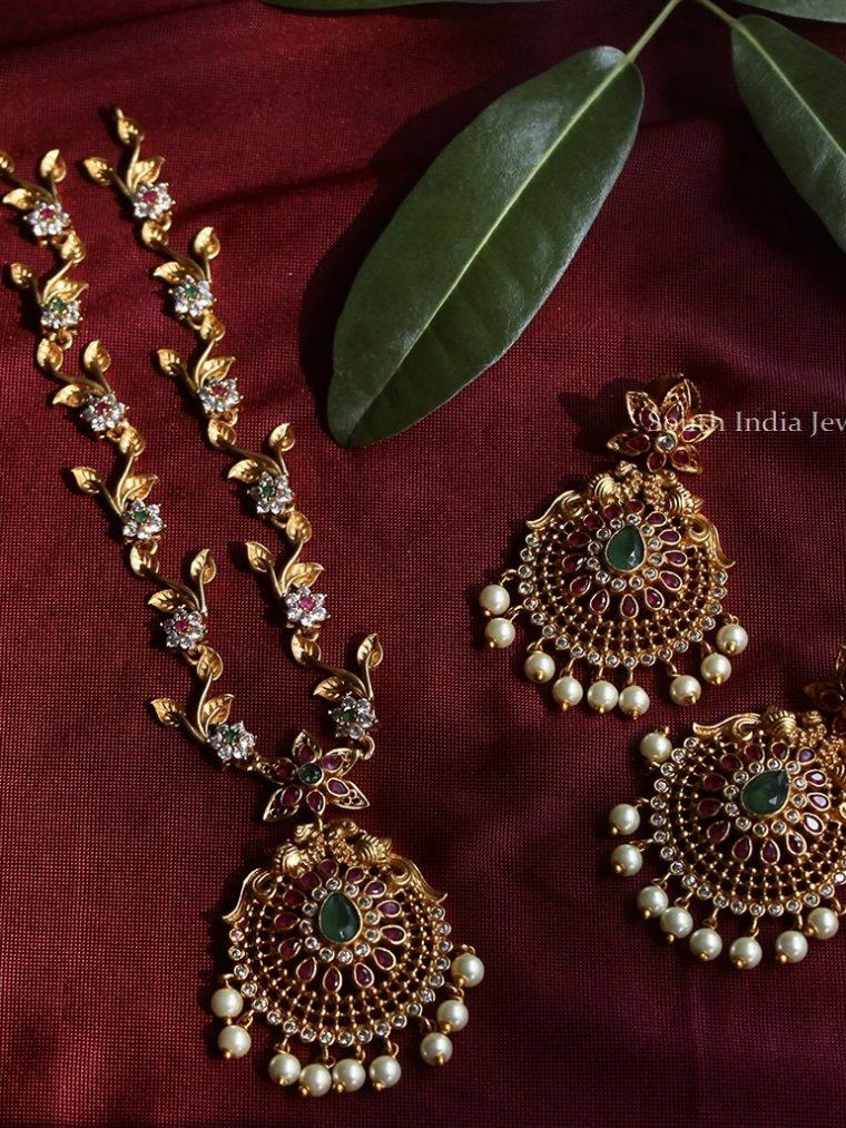 Stunning Flower Design Necklace