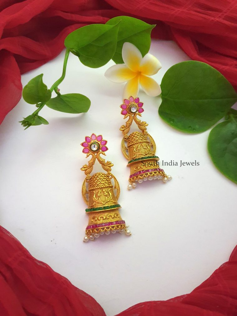 Stunning Half Jhumka Earrings