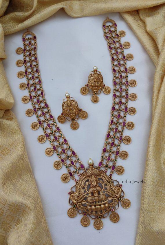 Temple Lakshmi Coin Long Haram-01