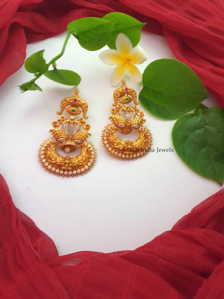 Traditional Gold Replica Chandbali Earrings