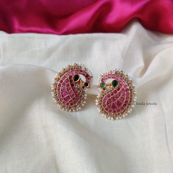 Traditional Peacock Design Kemp Earrings