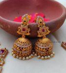 Traditional Red and Green Ram Parivar Necklace