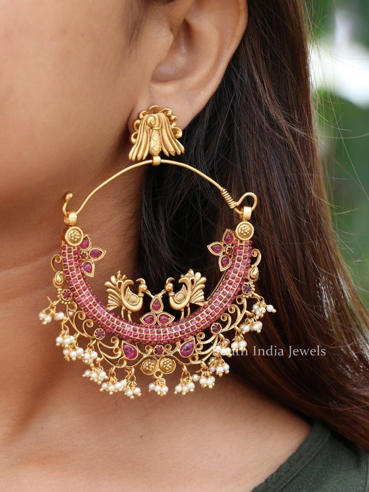 Trending Peacock Ruby Stone Earrings (2)