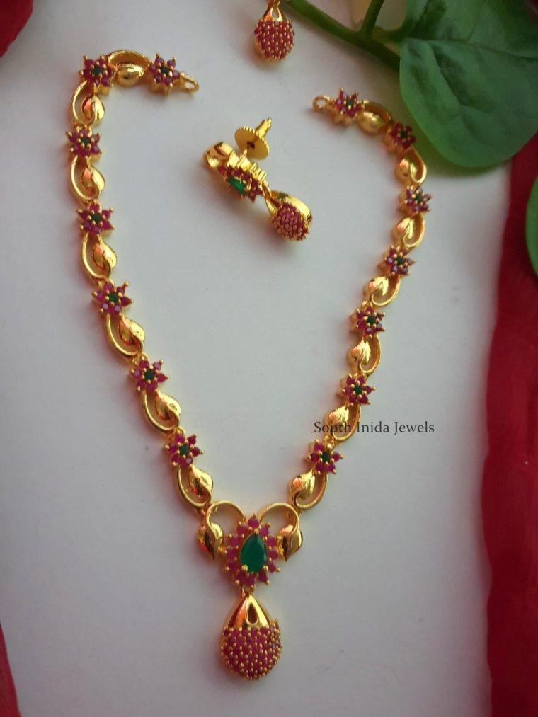 Trendy CZ Stone Imitation Necklace