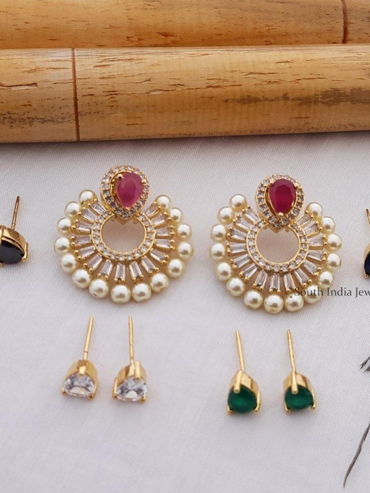 Trendy Chandbali Changeable AD Earrings