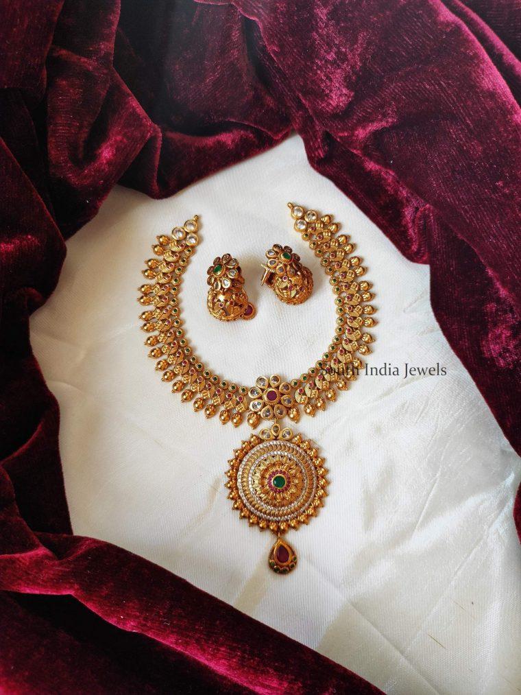 Trendy Imitation Chakra Pendant Necklace