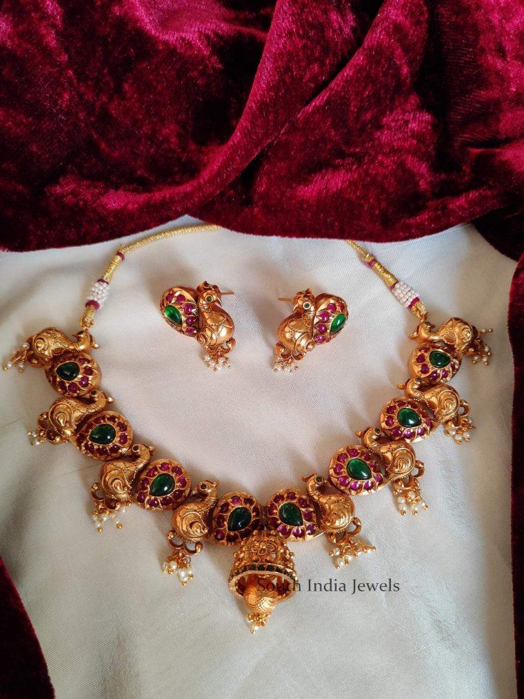 Unique Peacock Design Bell Necklace (3)