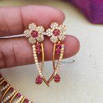Unique Pink Mallu Design Necklace
