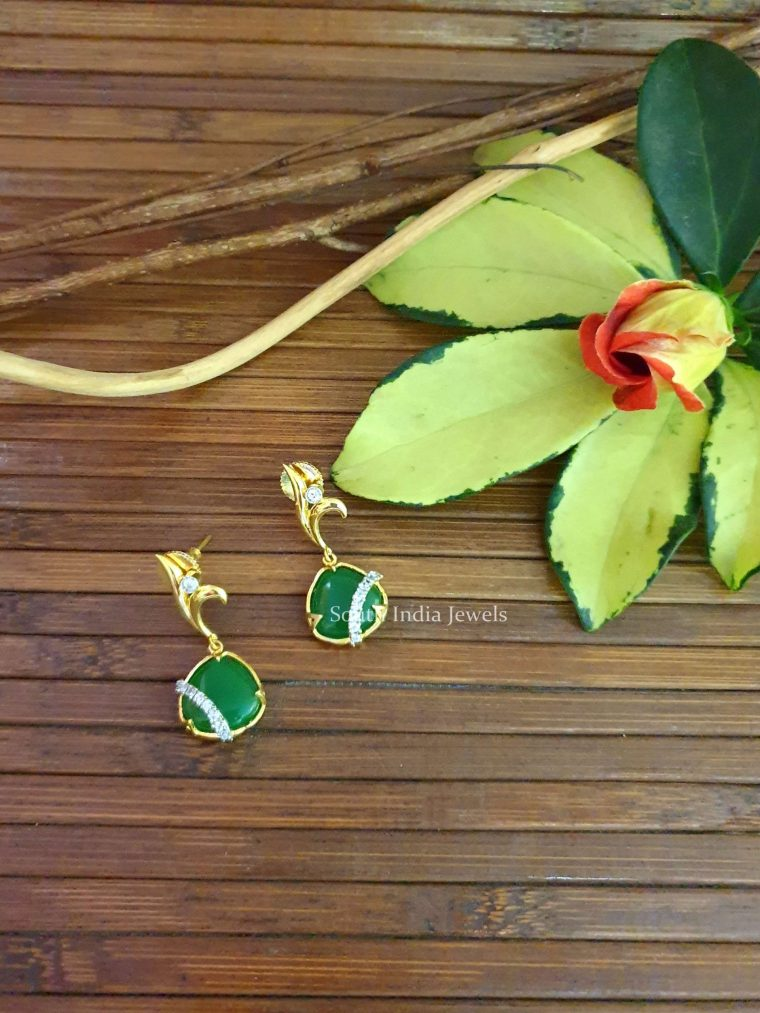 Amazing Green Dangler Earrings