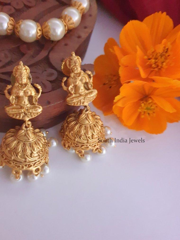 Amazing Lakshmi Pendant Pearl Chain