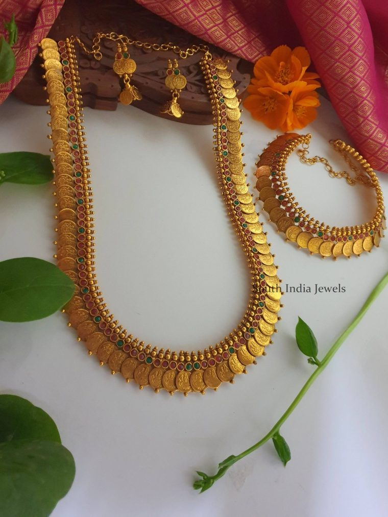 Beautiful Bridal Kasu Haram & Necklace (3)