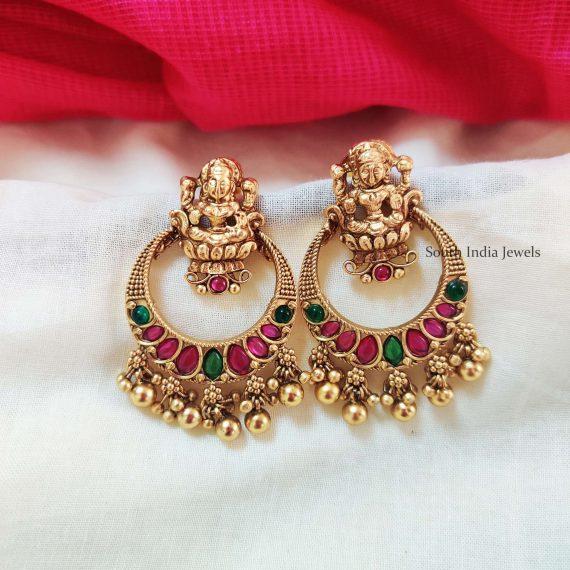 Beautiful Chandbali Lakshmi Earrings
