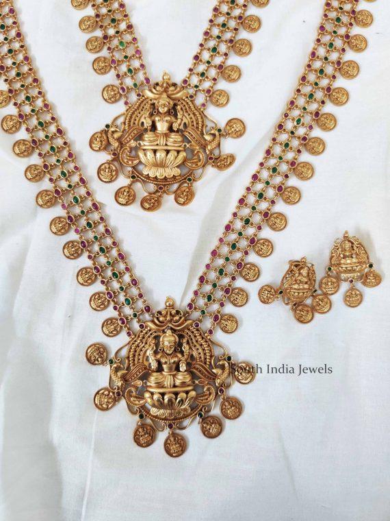 Beautiful Lakshmi Coin Necklace and Haram (2)