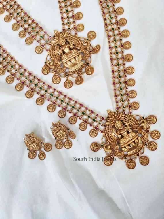 Beautiful Lakshmi Coin Necklace and Haram (3)