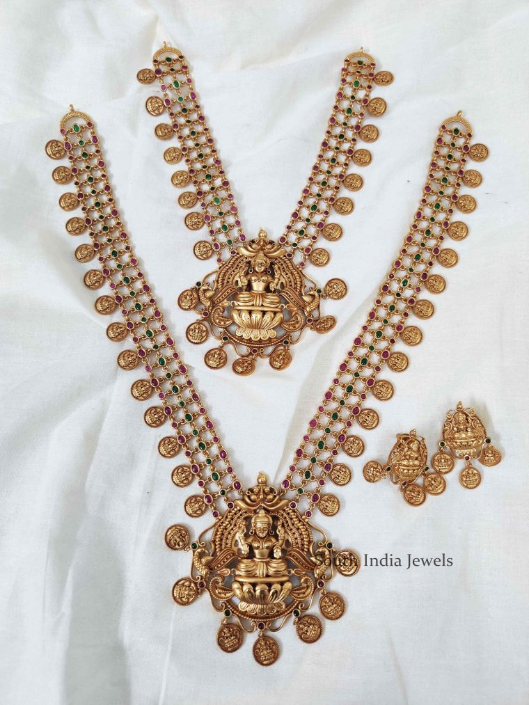 Beautiful Lakshmi Coin Necklace and Haram