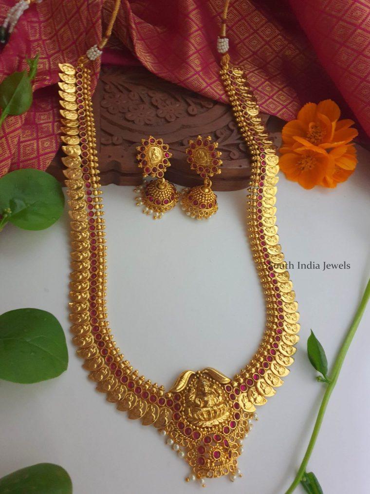Beautiful Lakshmi Pendant Haram (7)